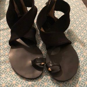 Black Michael kors strappy sandals
